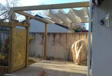 Structures d'ombrage à la Copechagnière, aux Brouzils